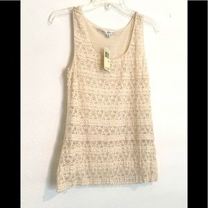 💐Max Studio Cream Lace Tank Top💐New With Tags